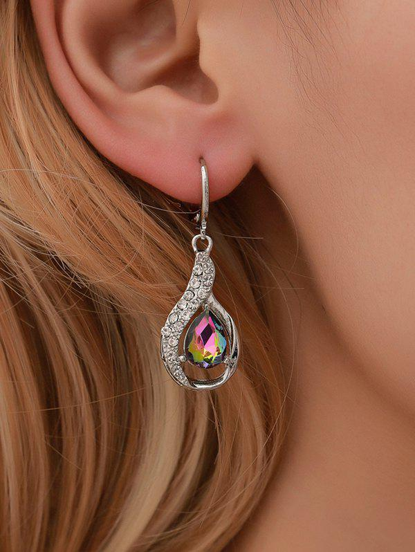 Affordable Water Drop Shape Zircon Decorated Dangle Earrings