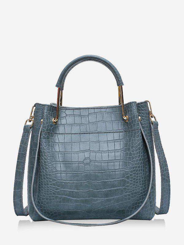 Fancy Embossed Solid Casual Handbag
