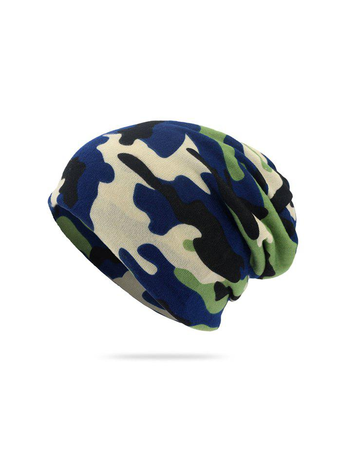 Fashion Camouflage Print KnittedDouble Use Scarf Hat