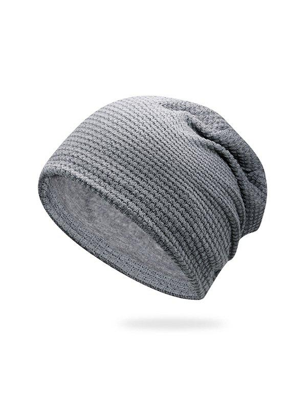 Online Solid Small Checkered Elastic Knitted Hat