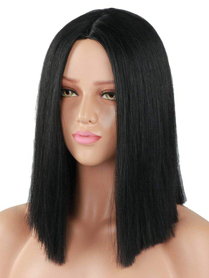 Outfit Center Part Straight Medium Synthetic Wig