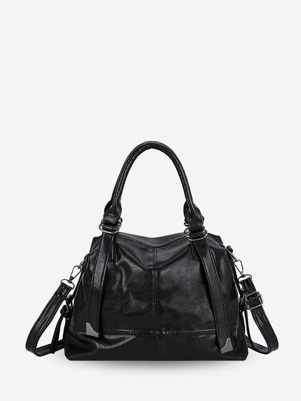 Hot Solid Leather Simple Style Handbag