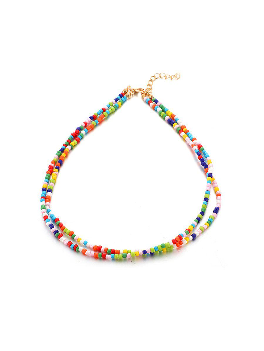 Unique Bohemian Beaded Double Layers Necklace