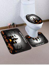 Halloween Pumpkin Castle 3 Pcs Tapis De Toilette -