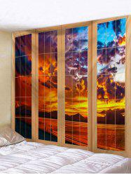 Door Sunset Pattern Tapestry -