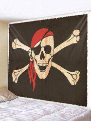 Halloween Pirate Skull Printing Wall Tapestry -