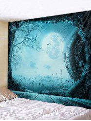 Halloween Moon Night Cave Print Tapestry Wall Hanging Art Decoration -