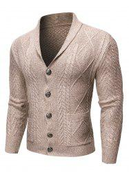 Single-breasted Knitted Long Sleeves Cardigan -