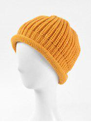 Solid Knitted Simple Winter Soft Hat -