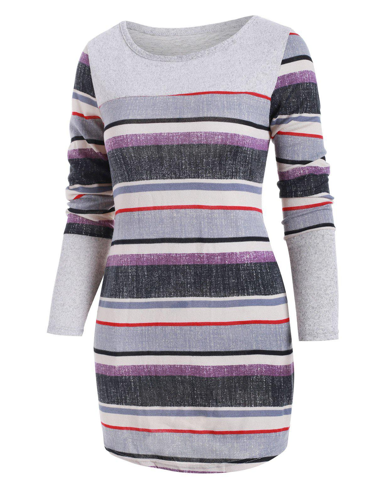 Unique Stripes Knitted Mini Dress