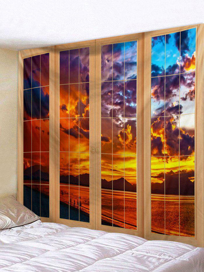 Fashion Door Sunset Pattern Tapestry
