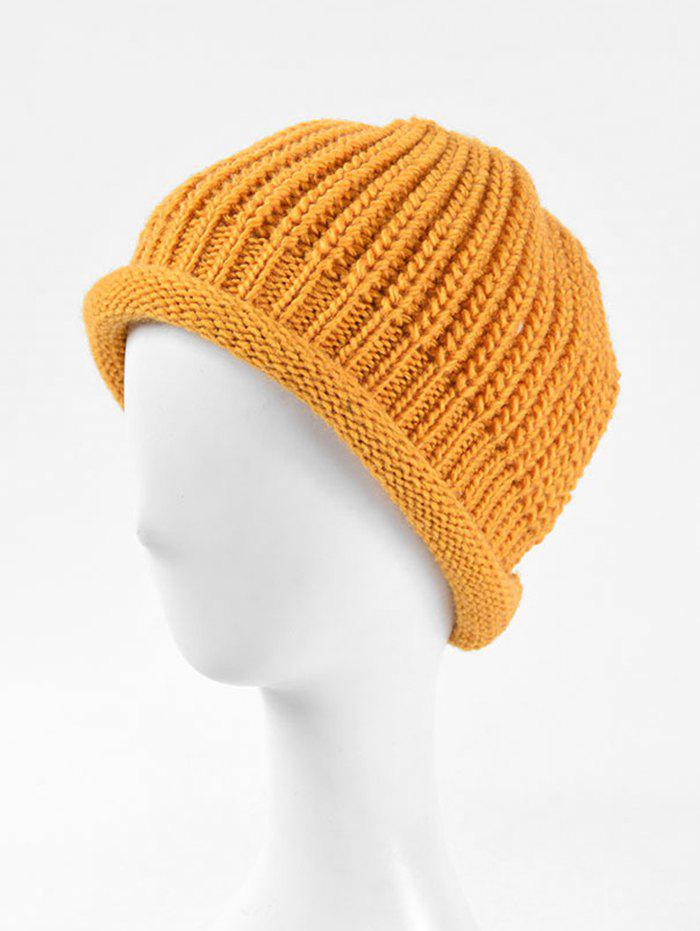 Cheap Solid Knitted Simple Winter Soft Hat