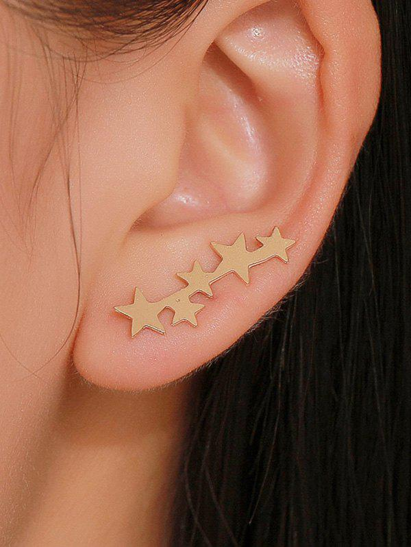 Fashion Simple Stars Metal Earrings