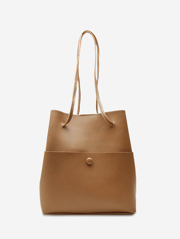 Store Solid Leather Big Capacity Bucket Bag