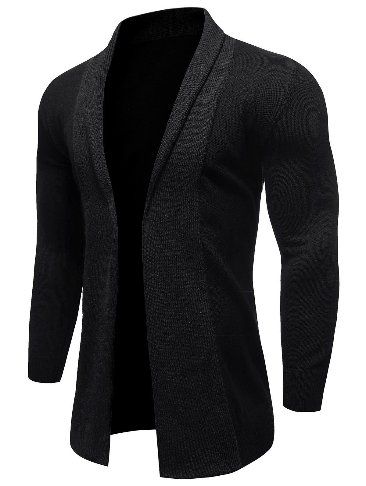 Affordable Solid Color Knitted Long Sleeves Cardigan