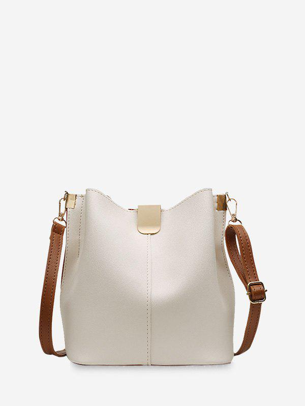 Sale PU Leather Solid Bucket Bag