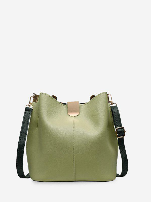 Latest PU Leather Solid Bucket Bag