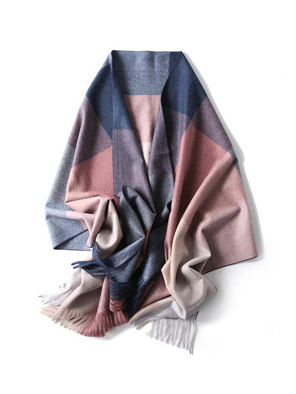 Discount Fringe Checkered Pattern Long Scarf