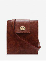 Retro Square Solid Crossbody Shoulder Bag -
