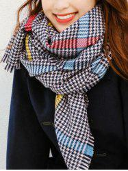 Chic Houndstooth Pattern Scarf -