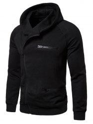 Solid Color Zipper Decoration Casual Hoodie -