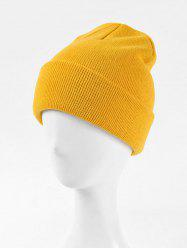 Knitted Soft Winter Solid Weaving Hat -