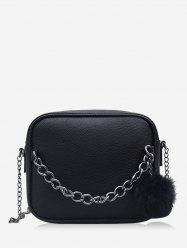 Fluffy Ball Zipper Mini Crossbody Bag -