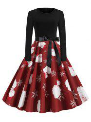 Christmas Santa Claus Belted Party Dress -
