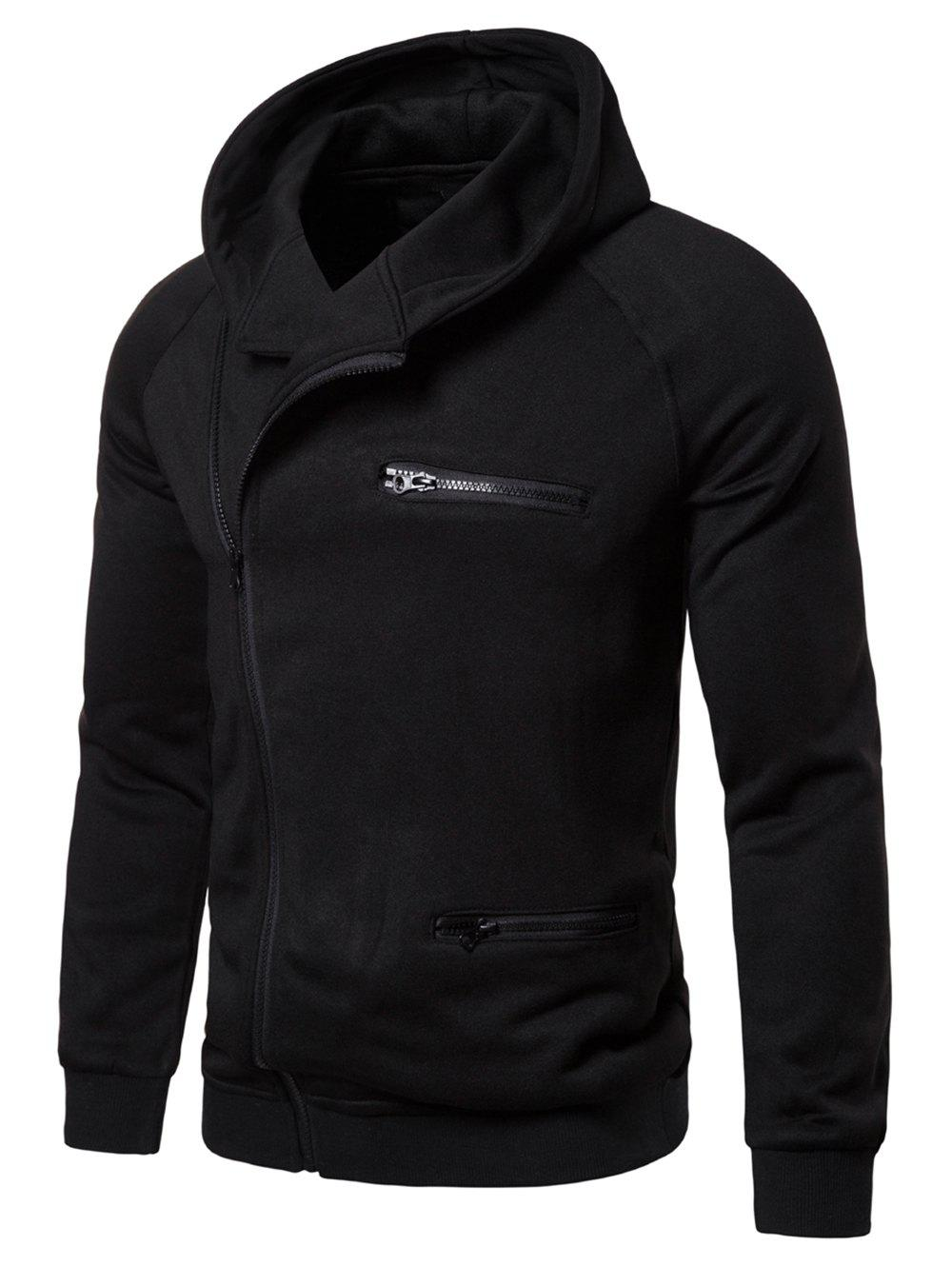 Latest Solid Color Zipper Decoration Casual Hoodie