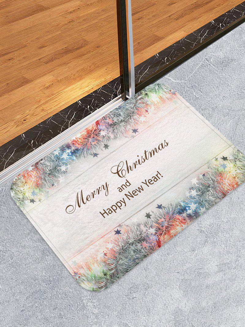 Sale Christmas Character Pattern Print Flannel Floor Mat