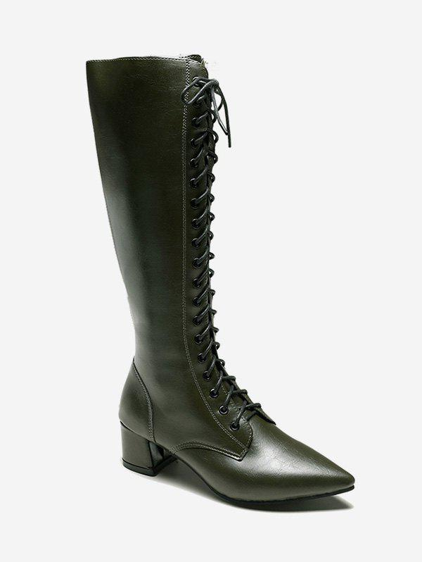 Sale Zipper Back Knee High Pointed Toe Boots