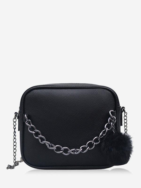 Shop Fluffy Ball Zipper Mini Crossbody Bag