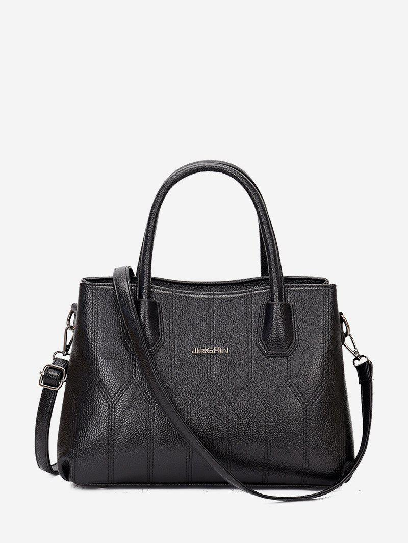 Hot Leather Solid Simple Style Handbag