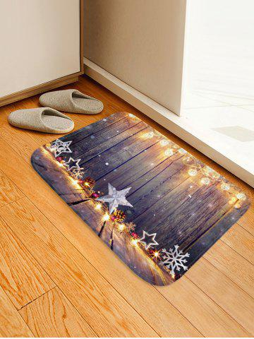 Christmas Star Wooden Print Floor Rug