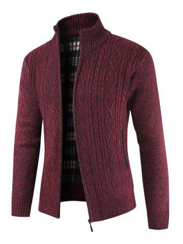 Solid Color Zip Up Long-sleeved Cardigan
