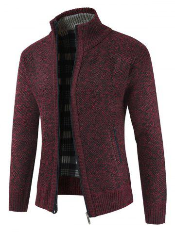 Solid Color Zip Up Full Sleeves Cardigan