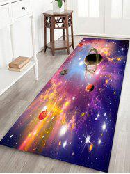Starry Universe Galaxy Print Floor Rug -