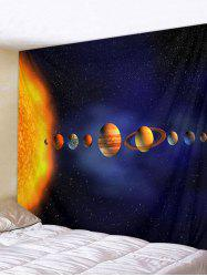 Solar System Planets 3D Digital Printing Wall Tapestry -