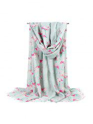 Flamingo Printed Travel  Beach Long Scarf -