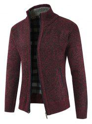 Solid Color Zip Up Full Sleeves Cardigan -