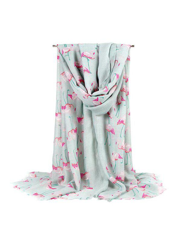 Fashion Flamingo Printed Travel  Beach Long Scarf