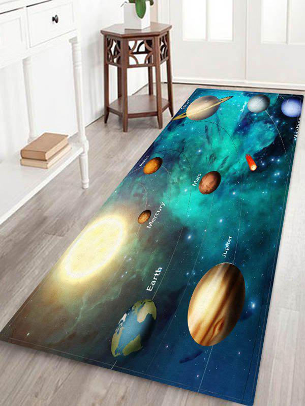 Outfit Universe Solar System Planets Print Floor Rug