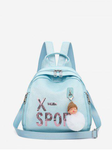 Dull Pendant Small Leather Travel Casual Backpack