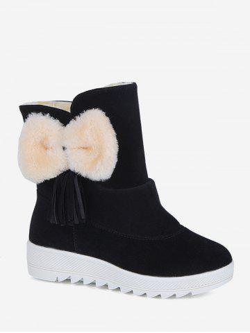Bowknot Decoration Casual Style Ankle Boots