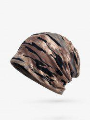 Camouflage Print Elastic Double Use Scarf Hat -