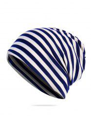 Striped Print Knitted Outdoor Hat -