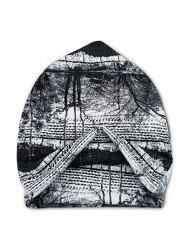 Tree Scenic Print Elastic Double Use Scarf Hat -