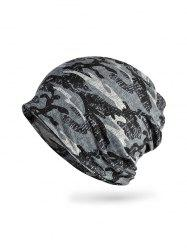 Camouflage Pattern Elastic Double Use Scarf Hat -