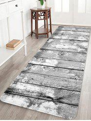Wooden Board Patterned Water Absorption Area Rug -