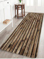 Wood Board Pattern Water Absorption Area Rug -
